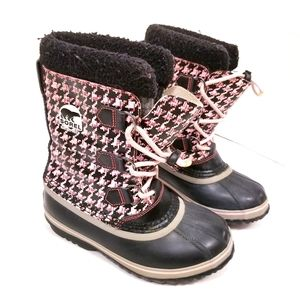 Sorel Waterproof Houndstooth Print Boots